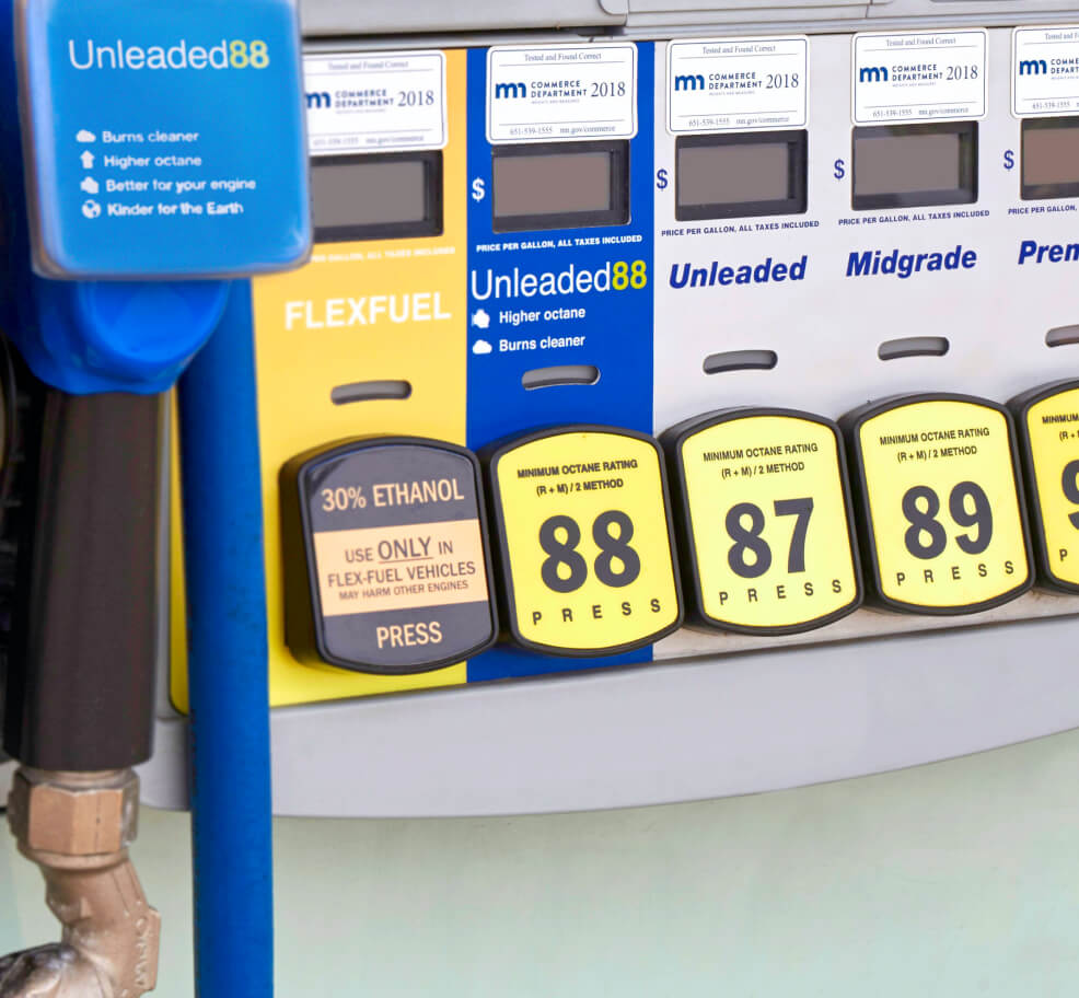 Fuel pump with flex fuel, Unleaded 88, and Unleaded 87
